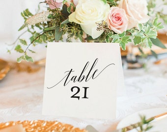 Table Numbers Printable, Wedding Table Numbers, Table Number Template, Wedding Printable, Tented, Folded, PDF Instant Download #BPB310_7