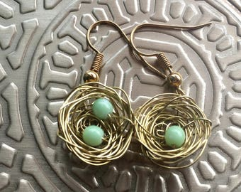 Bird's Nest Earrings