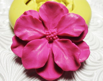 BIG FLOWER Mold Cherry Blossom Mould Flexible Silicone Rubber Push Mold for Resin Wax Fondant Polymer Clay Ice 375