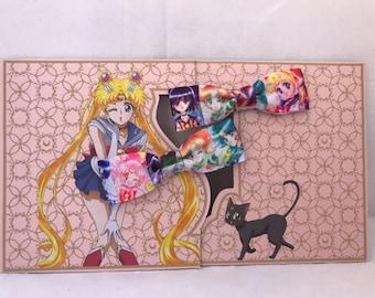 Sailor Moon, Sailor Scouts, Small Bow Hair Clip, Baby Hair Clip Bow, Toddler Hair Clip Bow, Girl Hair Clip Bow
