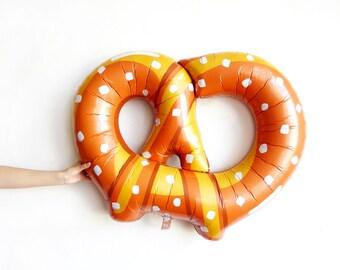 Pretzel Balloon - jumbo giant pretzel mylar food balloon