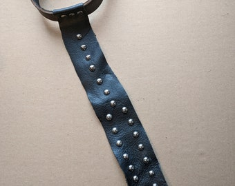Leather collar with tie and D ring