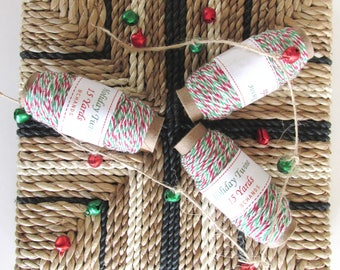 15 yards of Bakers Twine - 15 yards - 4 Ply - Holiday Twine