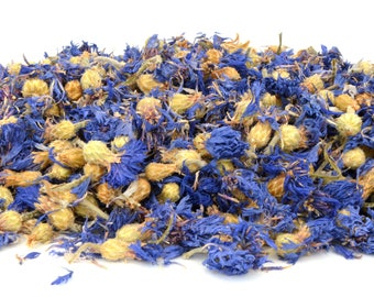 Blue Cornflower Flowers, 5g - 50g Dried, Rabbit Treat, Reptile, Chinchilla, Tortoise Food Supplies, Degu, Guinea Pig, Hamster, Dried Petals