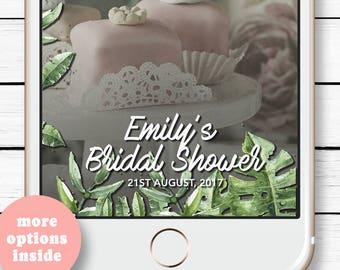 Birthday Luau Decorations, Tropical Snapchat Filter, Luau Bachelorette Party, Wedding Snap Chat, Luau Geofilter, Bridal Shower Geofilter