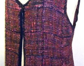 Pin Loom Weaving Basic Vest Pattern Zoom Loom Squares Custom Design