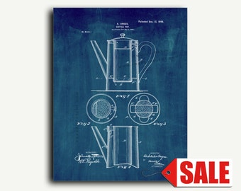 Patent Print - Coffee-pot Patent Wall Art Poster