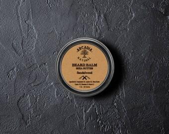 Handmade Natural Beard Balm, Men's skin care, Beard Moisturizer, Bear Conditioner, Beard styling,  Sandalwood beard balm