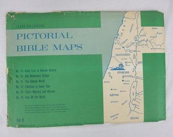 Vintage 1961 Abingdon Pictorial Bible Maps