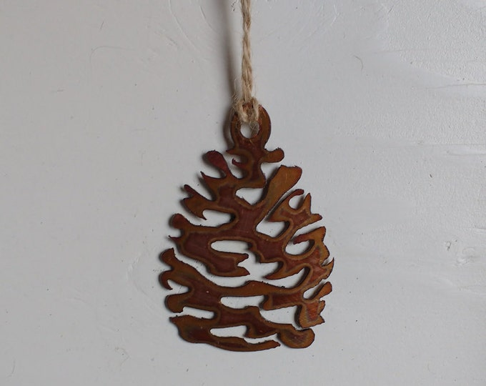 Copper Pine Cone Ornament
