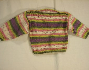 Boat neck sweater girls size 0 to 6 months