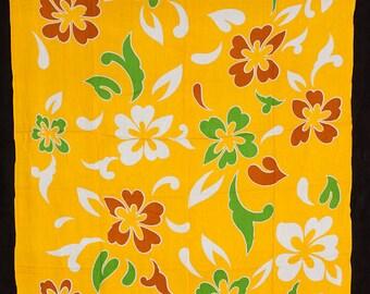 Floral Sarong. Hawaiian Tropical Fringed Beach Wear Sarong/Pareo/Pareu.