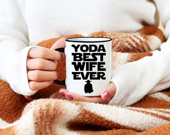 Best Wife Ever Mug, Yoda Best Wife Ever Mug, Funny Coffee Mugs, Birthday Present, Valentine's Day, Anniversary Gift For Her