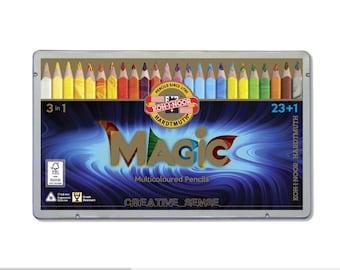 Koh-I-Noor Magic colored pencils set 3408 jumbo triangular crayon drawing coloring multicolored special new art