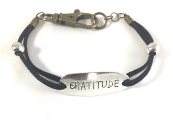 Male Black Suede Adjustable Bracelet