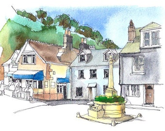 Cawsand square, Cornwall