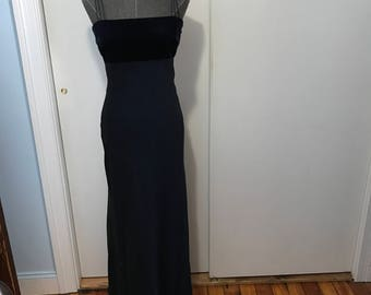 Laundry by Shelli Segal dark blue navy formal gown size 6 velvet