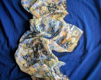 """Spiral ~Marbled Scarf, 72"""" Long~"""
