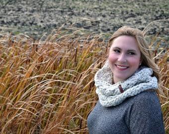 Col Crochet Chunky, écharpe au crochet, grosse maille cache-cou, écharpe hiver Infinity, chaudes d'hiver accessoire femmes au Crochet