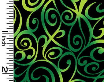 Swirl Tone It Up Green Kona Bay Fabric 1 yard