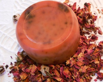 Rose scented goat milk soap