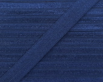 3/8 NAVY Fold Over Elastic 5 or 10 Yards
