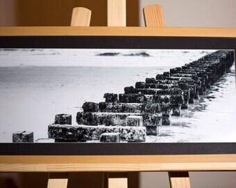 """Framed Print """"Wooden Breakers"""""""