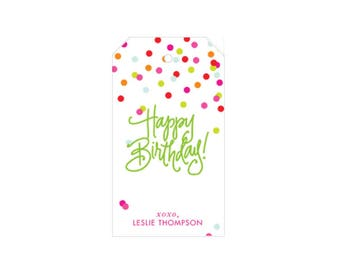 Confetti Birthday Tags - Personalized!