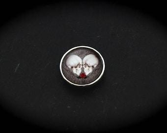 Cabochon pressure 18mm for jewelry-fantasy - skulls