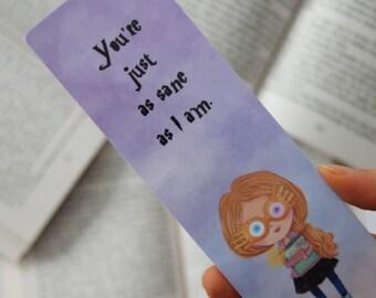 Luna paper bookmark | Harry Potter