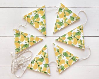 Lemon Banner, Lemons , Lemon Bunting, Lemon Garland, Garland , Banner , Flags , Bunting
