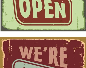 Vintage Open Closed Sign