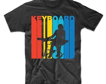 Retro 1970's Style Keyboard Keyboardist Musician T-Shirt
