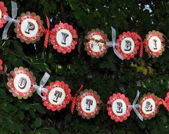 Cowgirl Birthday Banner - Cowgirl Birthday Decorations - Western Birthday Party