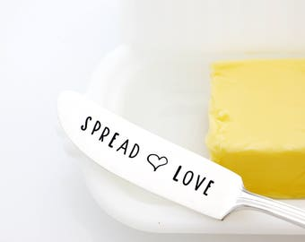 Engraved Spreader, Spread Love. Unique Hostess Gift. Cheese Spreader.