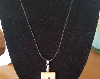 Personalised scrabble letter tile initial necklace- choose your letter