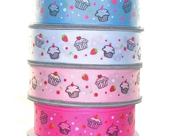 Cupcake Grosgrain Ribbon 25mm 1 mt- 20 Yard Roll