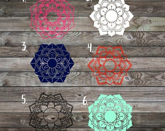 Mandala Decal | Mandala Monogram Decal | Monogram Decal | Yeti Decal | Car Decal | Laptop Decal | RTIC Decal | Phone Decal | Monogram