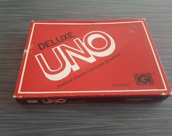 Vintage 1978 UNO Deluxe Card Game Board Game Night