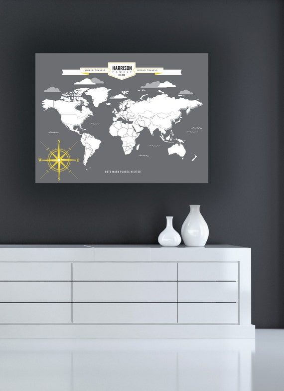 Travel map personalized interactive world map mark your like this item gumiabroncs Images