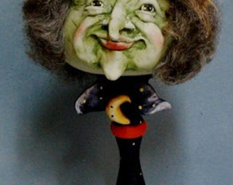 GOURDous Witch on Candlestick E-Pattern