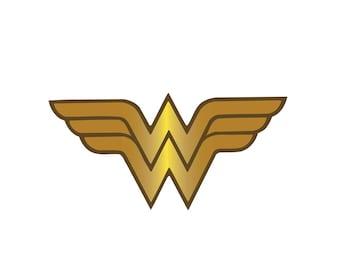 Wonder Woman Iron On Applique, WonderWoman Applique, Wonder Woman Patch, Genuine DC Comics Iron On Patch, Superhero Applique, 2.5x5