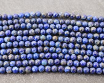 6mm Lapis Lazuli Beads, Round - Full Strand or Half Strand, Blue Beads, 6 mm, Lapis 6mm, 6mm Blue Beads, Dark Blue Beads, Gemstone, Natural