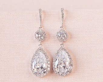 Bridal Earrings, Crystal Wedding Earrings, Swarovski, Crystal Bridal Jewelry, Bridal jewelry SET, Bridesmaid jewelry, Cameron Earrings