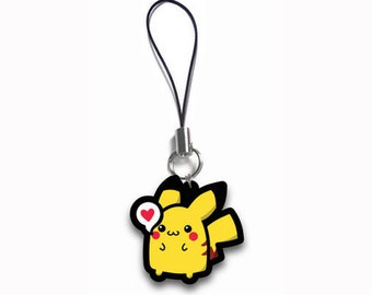 Pikachu Chibi Acrylic Phone Charm, Key Chain, or Necklace