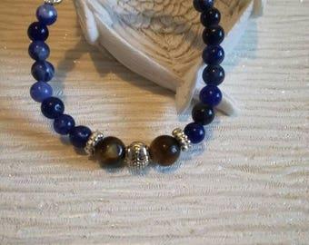 Women's Reiki beaded bracelet. Self-compassion. Positive affirmation. Spiritual. Angels. Handmade. Stretch.