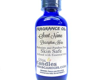 Strawberries 4 oz GLASS bottle of Fragrance Oil infused with Essential Oil- skin safe, many uses,