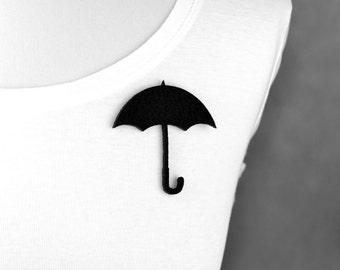 Felt brooch black umbrella shape black umbrella