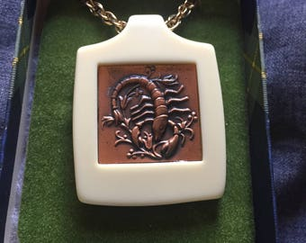 Vintage Scorpio Pendant Necklace
