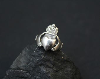 Sterling Silver Claddagh Ring, Sterling Claddagh Ring, Sterling Irish Ring, Irish Jewelry, Sterling Silver Claddagh Jewelry, Silver Irish